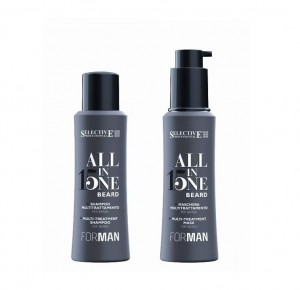 Selective All In One 15w1 Beard szampon + maska do brody 2x100ml